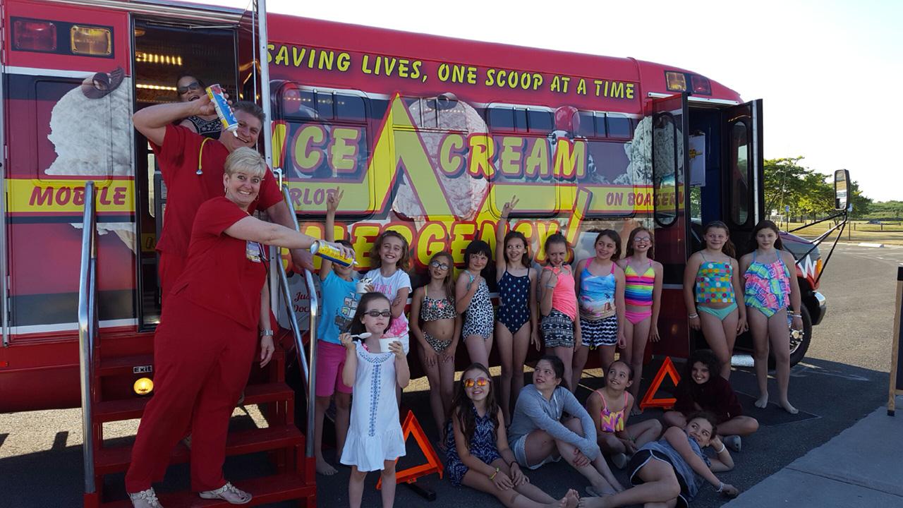 Corporate Family Ice Cream Bus