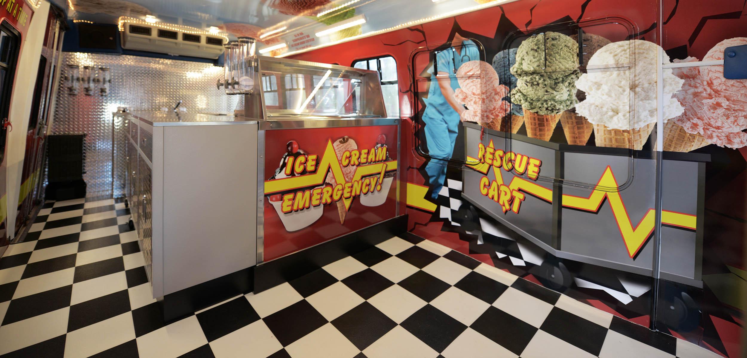 Home Slider Inside of Ice Cream Bus